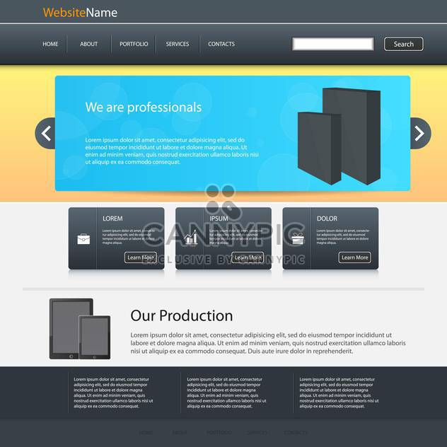 abstract website design template - Free vector #132682