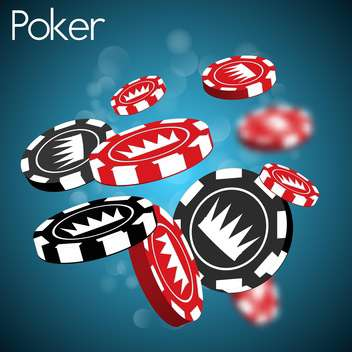 poker chips with crown sign - vector gratuit #132752