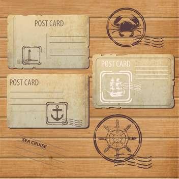antique design postcards and postage stamps - vector gratuit #132762