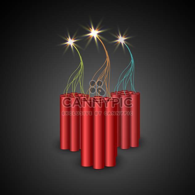 Vektor-Bomben mit brennenden Sicherung - Kostenloses vector #132782