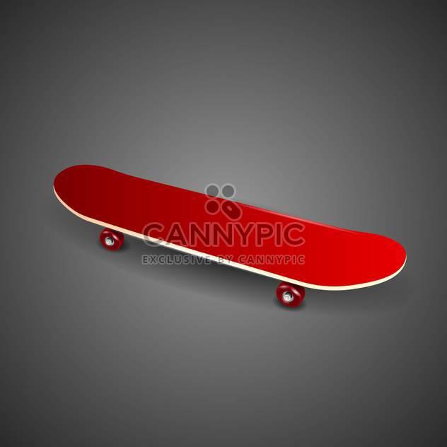 skateboard deck vector illustration - Free vector #132792