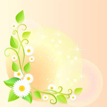 spring floral vector background - vector gratuit #132812