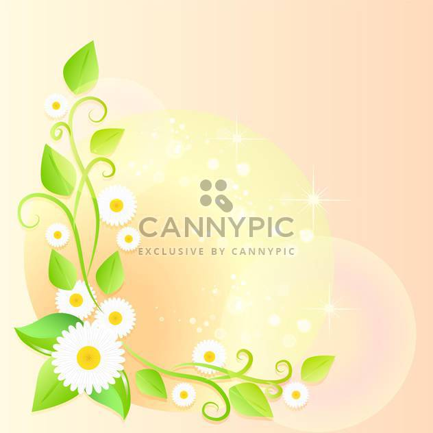 Frühling Blumen Vektor-Hintergrund - Kostenloses vector #132812
