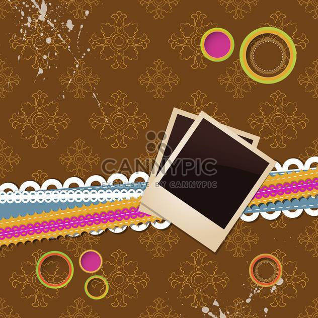blank aged photo frames - Free vector #132832