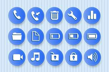 icons for mobile phone set - vector gratuit #132842