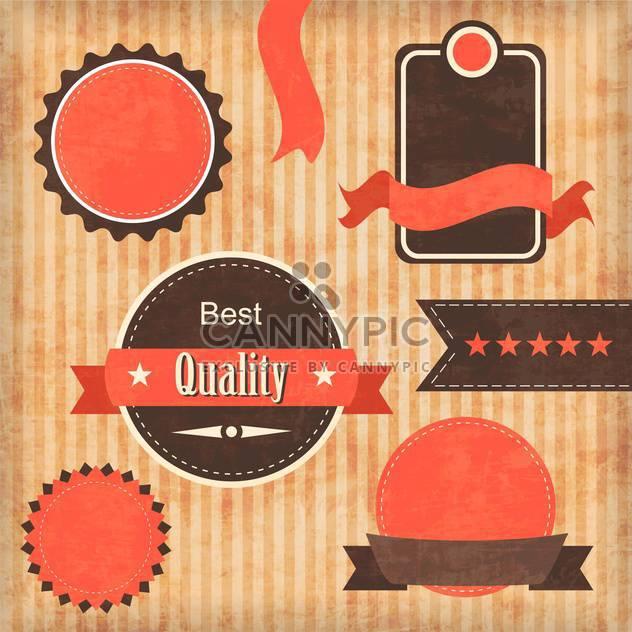 vintage premium quality labels set - Free vector #132852