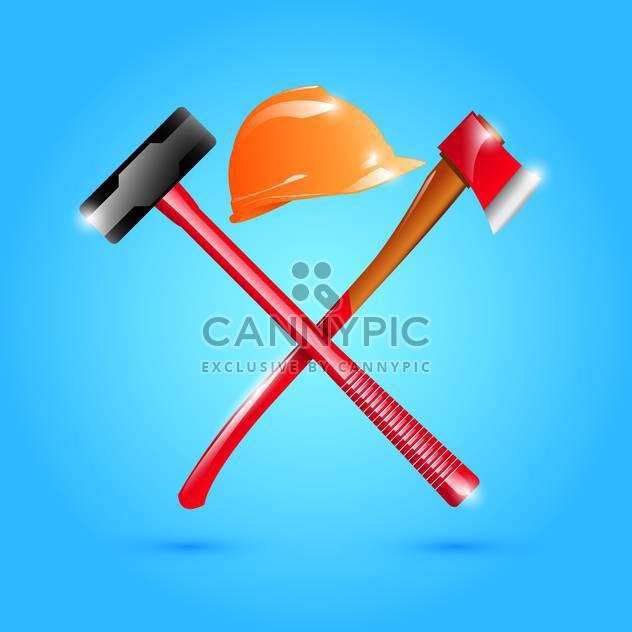 Helm, Hammer und Axt Abbildung - Kostenloses vector #132882