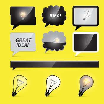 light bulbs business idea - бесплатный vector #132892
