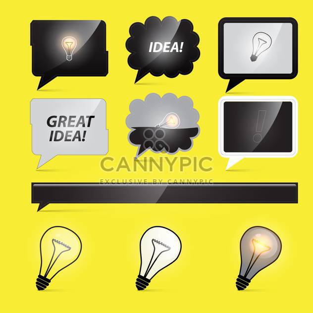 light bulbs business idea - Free vector #132892