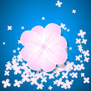 pink floral vector background - Free vector #132962