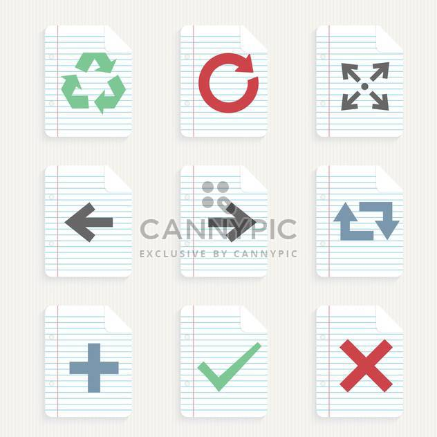arrows icons set background - Free vector #132972