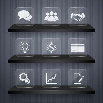 business icons set background - бесплатный vector #132982