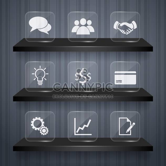 business icons set background - Free vector #132982