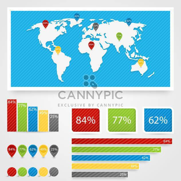 business infographic elements set - Free vector #132992