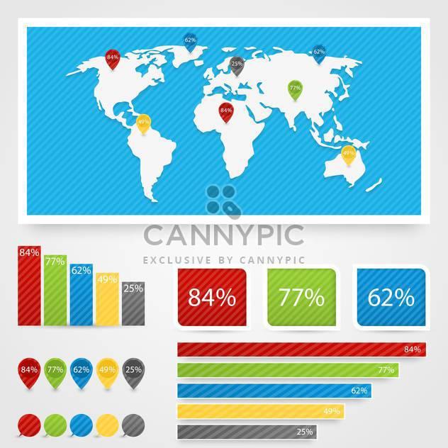Geschäft Infographik Elemente festlegen - Kostenloses vector #132992