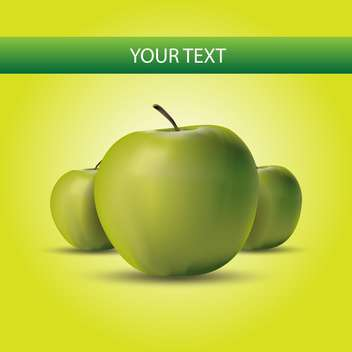 green apples label background - Free vector #133022