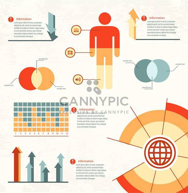 business infographic elements set - Free vector #133122
