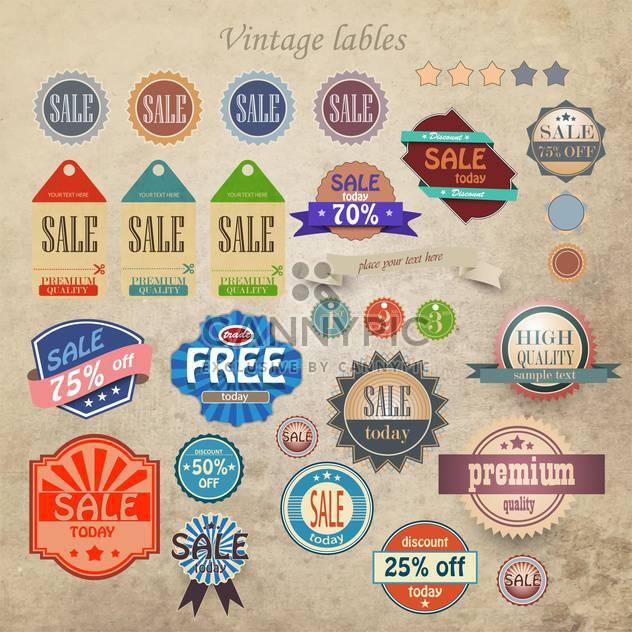 Jahrgang Rabatt und qualitativ hochwertige Etiketten - Kostenloses vector #133152