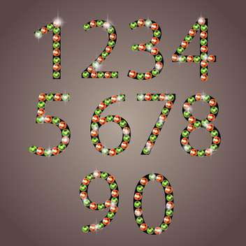 diamond font numbers set - vector gratuit #133192