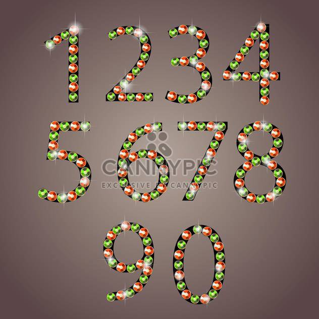 diamond font numbers set - Free vector #133192