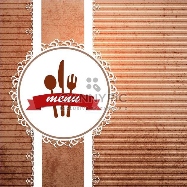 restaurant menu design background - Free vector #133242