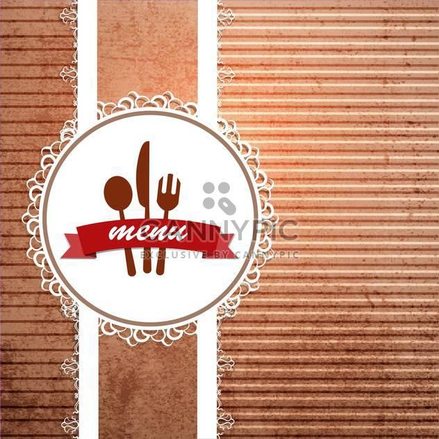 Restaurant-Menü-Design-Hintergrund - Free vector #133242