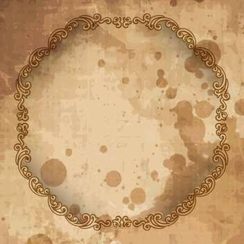 vintage vector frame background - vector #133252 gratis