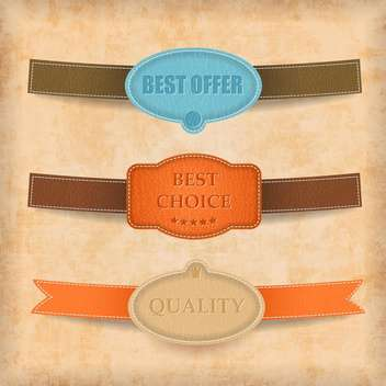 Vintage styled premium quality labels - Free vector #133272