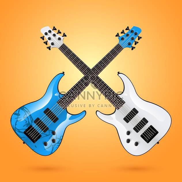 set of vector electric guitars - Free vector #133292