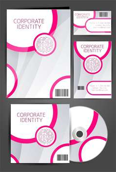 selected corporate templates set - vector gratuit #133302