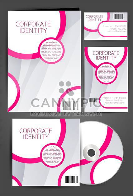 selected corporate templates set - Free vector #133302