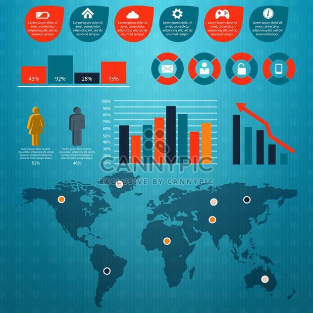 retro business infographics set - Free vector #133362