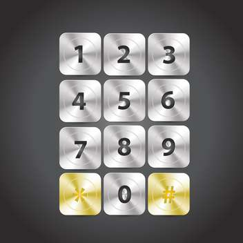 telephone keyboard numbers set - vector gratuit #133392