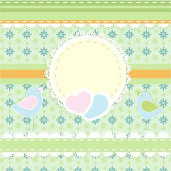 vector frame background with birds - Free vector #133452