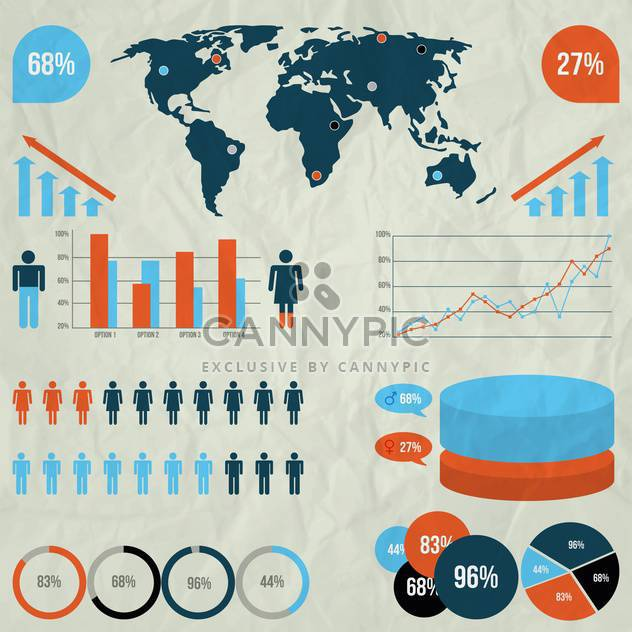 vector elements of business infographics - Free vector #133512