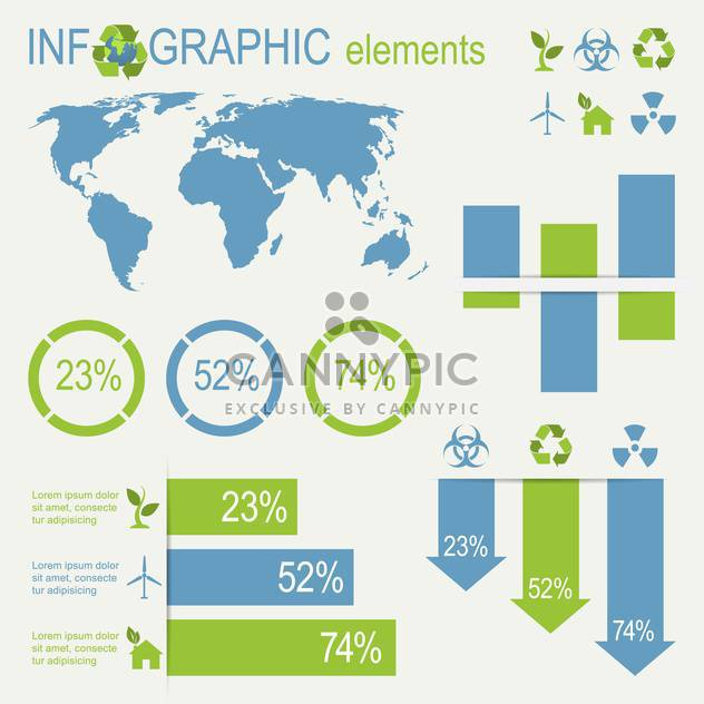 ecology infographics collection with charts - Free vector #133522