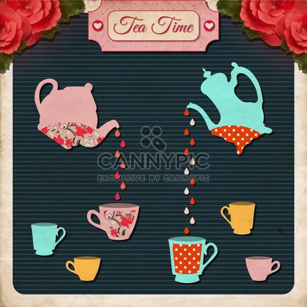 Nachmittags Tee Zeit Vektor Hintergrund - Kostenloses vector #133552