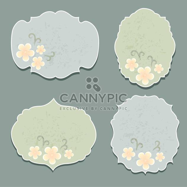 set of vector floral labels - Free vector #133632