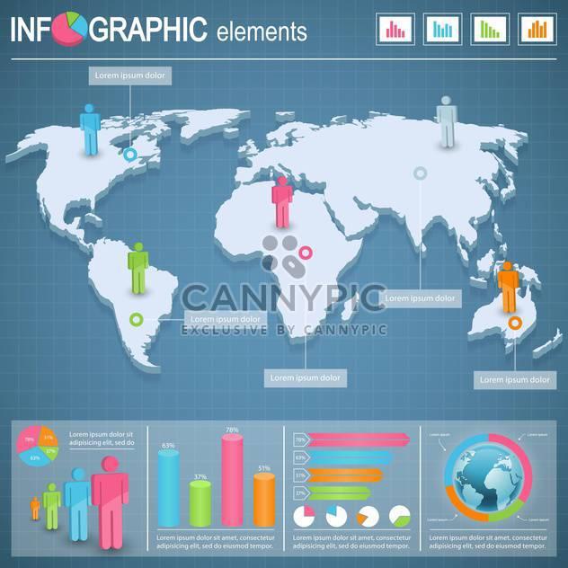 Satzelemente für Geschäft Infografiken - Free vector #133682