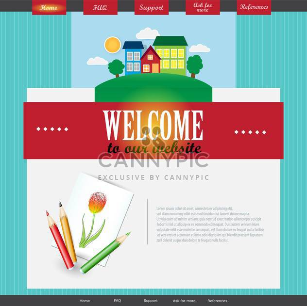 vector template of abstract website design - Free vector #133712