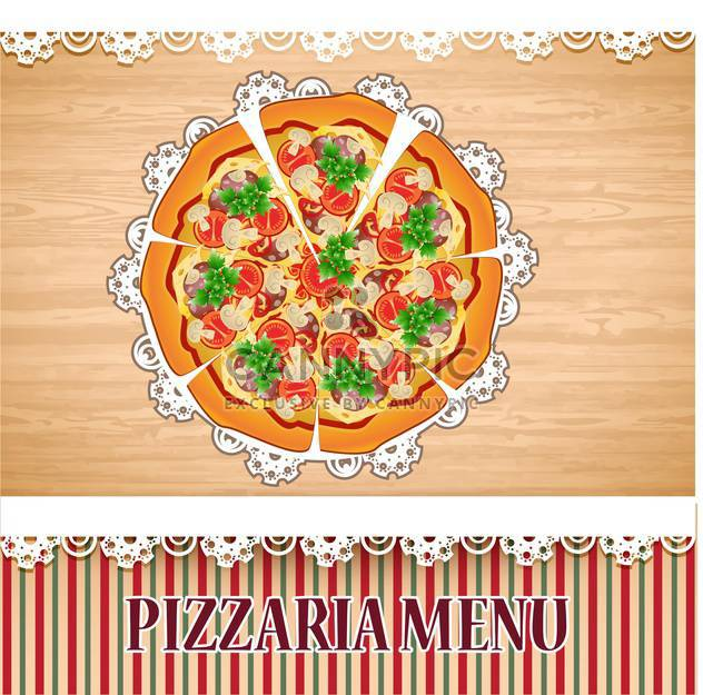 Pizzaria Menü Vorlage Abbildung - Kostenloses vector #133762