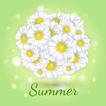bouquet of daisies on green background - vector gratuit #133822