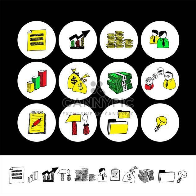 Cartoon-Finanzen und Geld-Icon-set - Kostenloses vector #133852