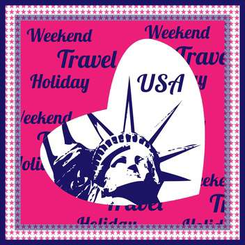 i love you usa travel background - vector gratuit #133882