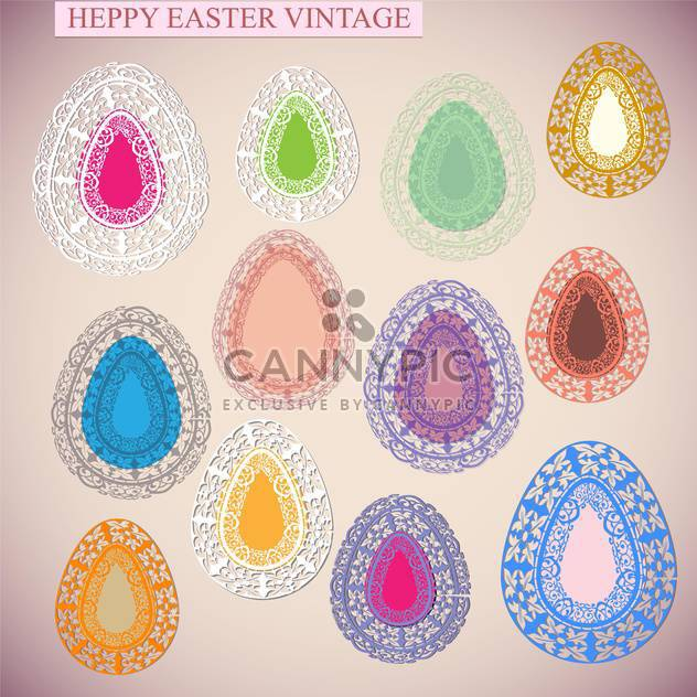 happy Easter-Urlaub-card - Free vector #133902
