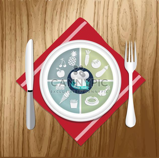 vector illustration of lunch items - Free vector #133922