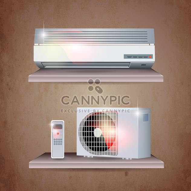 air conditioner set background - Free vector #133942