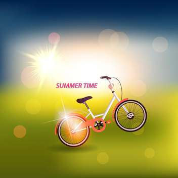summer time vintage bicycle poster - vector #133952 gratis