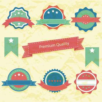 high quality labels collection - Free vector #133962
