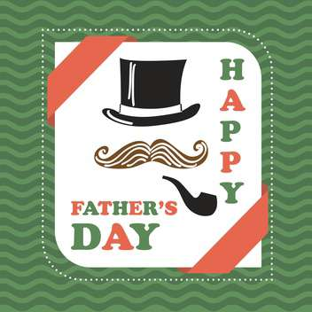 happy father's day vintage card - vector gratuit #133982